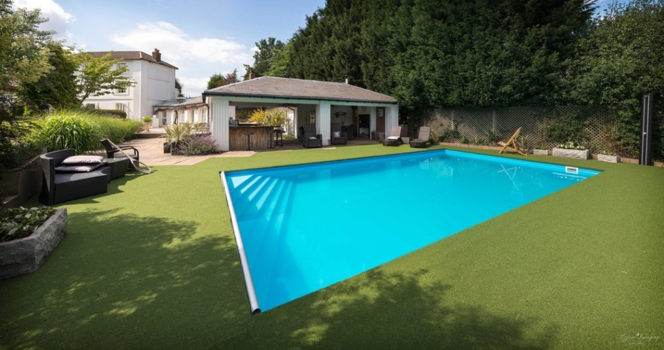 party house with a pool midlands