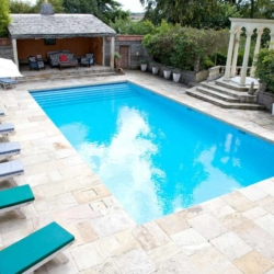 accommodation with pool UK